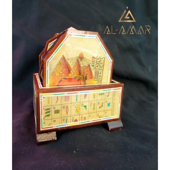 Подложки за чаши с декорация в кутия | Отлична цена от Al-amar.bg