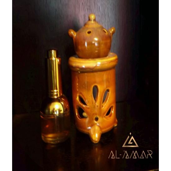 AROMA OIL LAMP BROWN ROUND SHAPE | Отлична цена от Al-amar.bg