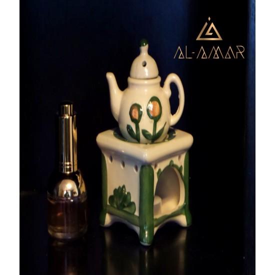 SMALL WHITE\GREEN TEAPOT | Отлична цена от Al-amar.bg