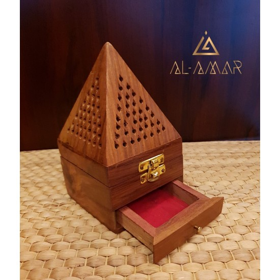 BROWN INCENSE BURNER PYRAMID SHAPE | Best price from Al-amar.bg