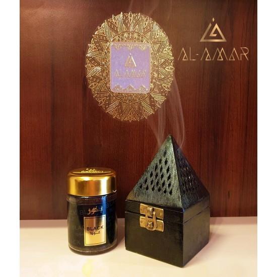 BLACK INCENSE BURNER PYRAMID SHAPE | Best price from Al-amar.bg