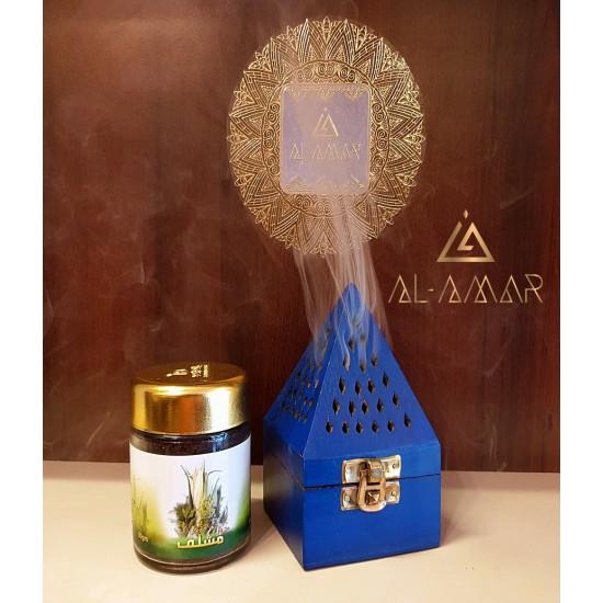BLUE INCENSE BURNER PYRAMID SHAPE   Best price from Al-amar.bg